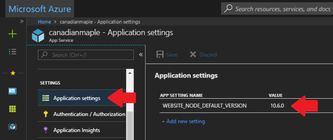 AzurePortal_AppSettings_NodeVersion.PNG