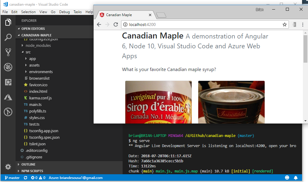 Deploy an Angular App from Visual Studio Code to Azure